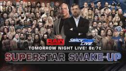 wwe superstar shakeup 2017 april 10th raw april 11th smackdown full list of who was transferred to what brand wwe draught