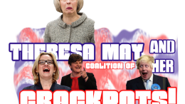Celebrate the moment the Tory party, or more so its glorious leader Theresa May once and for all completely lost the plot after her massive Hubris was turned into humiliation after losing her Majority Government … after a pointless snap election that the UK wanted. theresa may's coalition of crackpots coalition of chaos