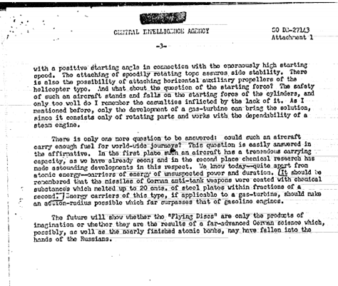 GERMAN SCIENTIST'S ARTICLE ON 'FLYING DISCS' (g) - Hidden CIA UFO files