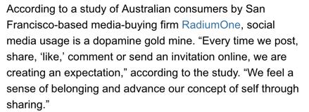 Dopamine goldmine social media history