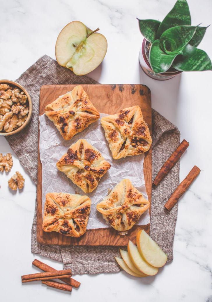 Vegan Apple Walnut Pastry Purses