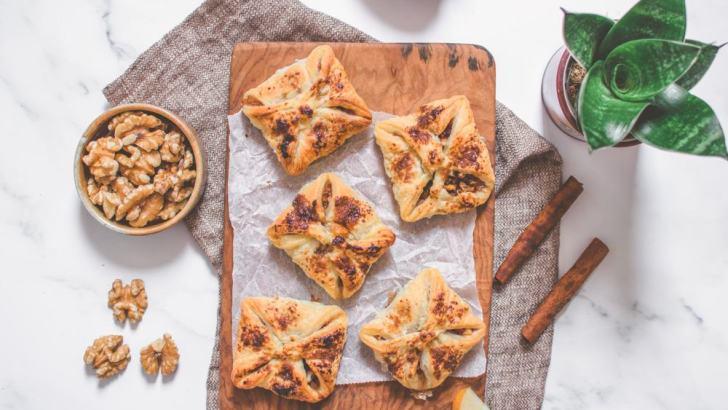 Apple Walnut Pastry Purses