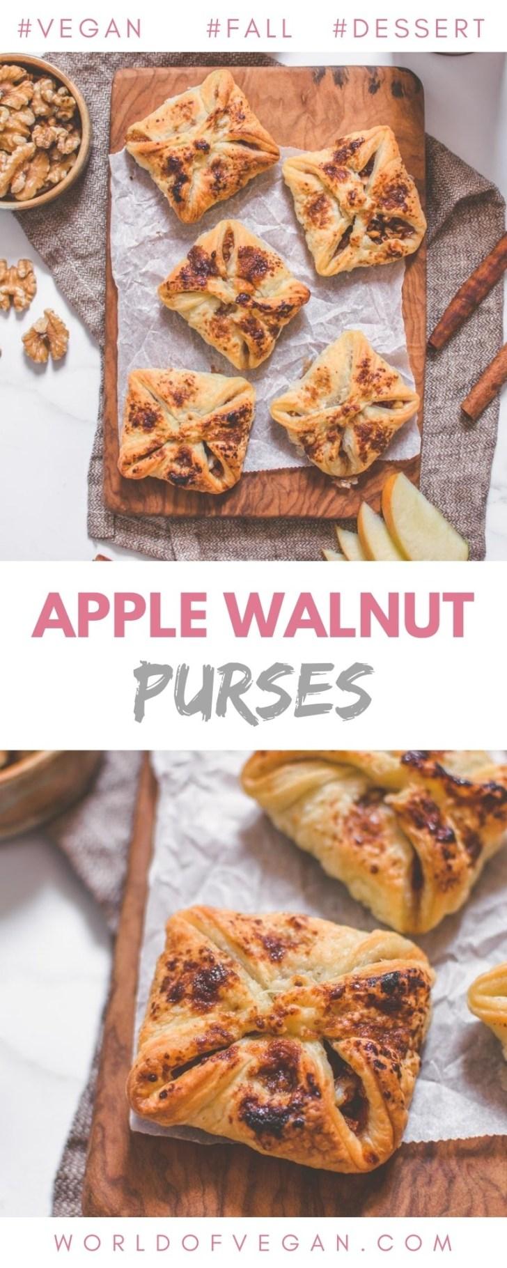 Vegan Apple Walnut Purses Pin