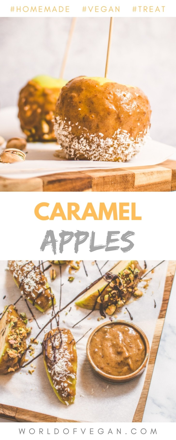 Homemade Caramel Apples Pinterest Long Graphic