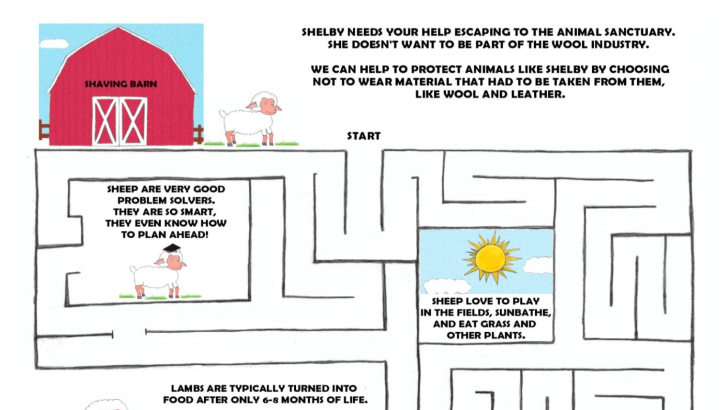 Vegan Kids Activity Book & Printable Maze!
