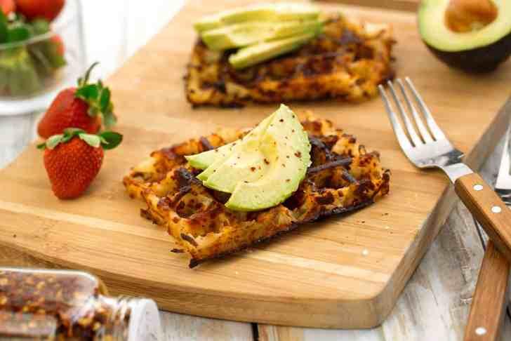 Hash Brown Waffles   Easy Vegan Breakfast   WorldofVegan.com   #vegan #breakfast #recipe #potatoes