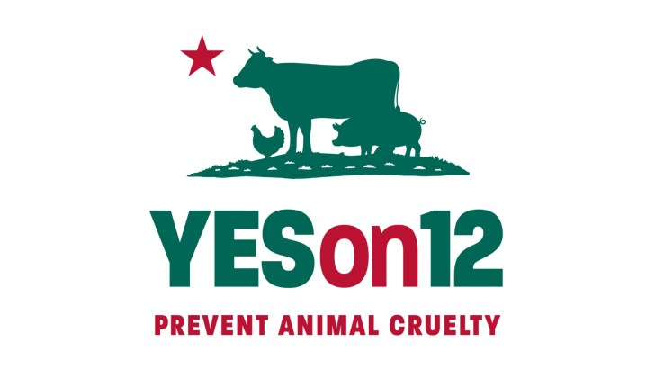 California: Vote YES on Prop 12 for Animals this Election Day
