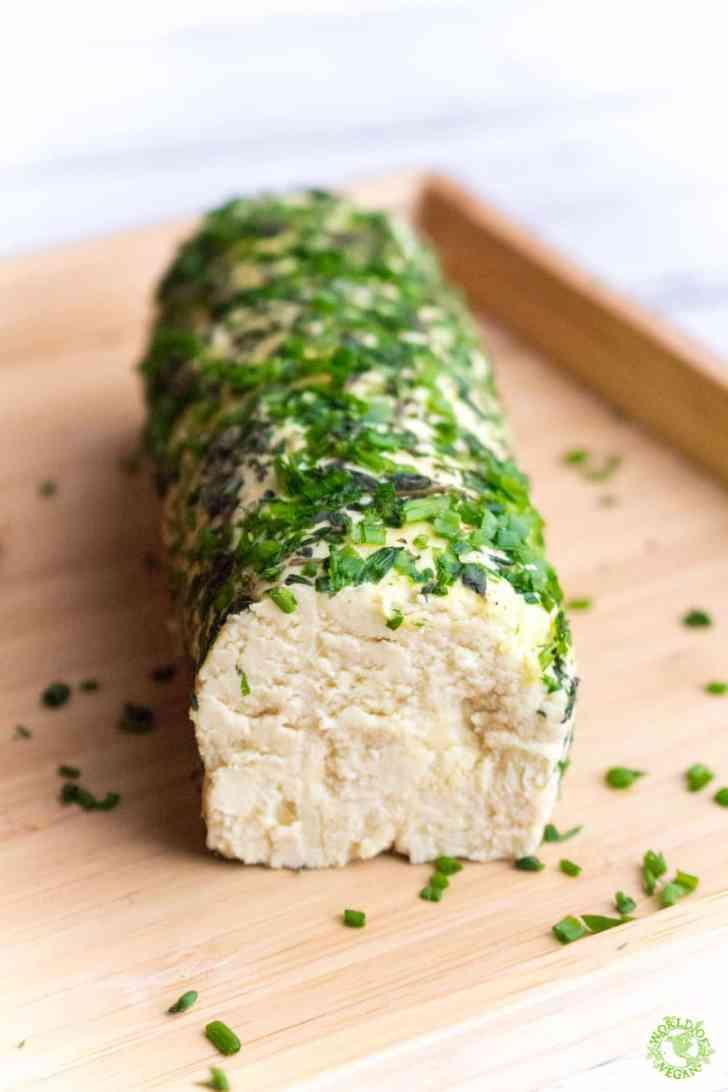 Vegan Cheese Log   Holiday Recipe   WorldofVegan.com   #vegan #cheese #holiday #plantbased