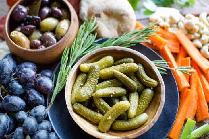 Mini Pickles   DIY Hummus Board   World of Vegan