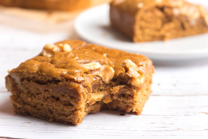 Vegan Blondies   Walnut Maple Spice   WorldofVegan.com   #blondies #recipe #baking #vegan #holiday