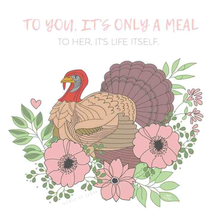 Celebrate A Vegan Thanksgiving | Turkey Artwork by Dana Vostres