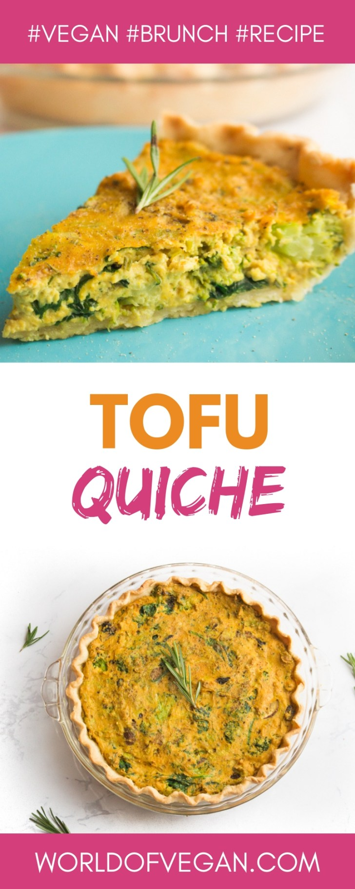 Tofu Quiche   Delicious Plant-Based Brunch Recipe   WorldOfVegan.com   #vegan #brunch #tofu #recipe #breakfast #quiche