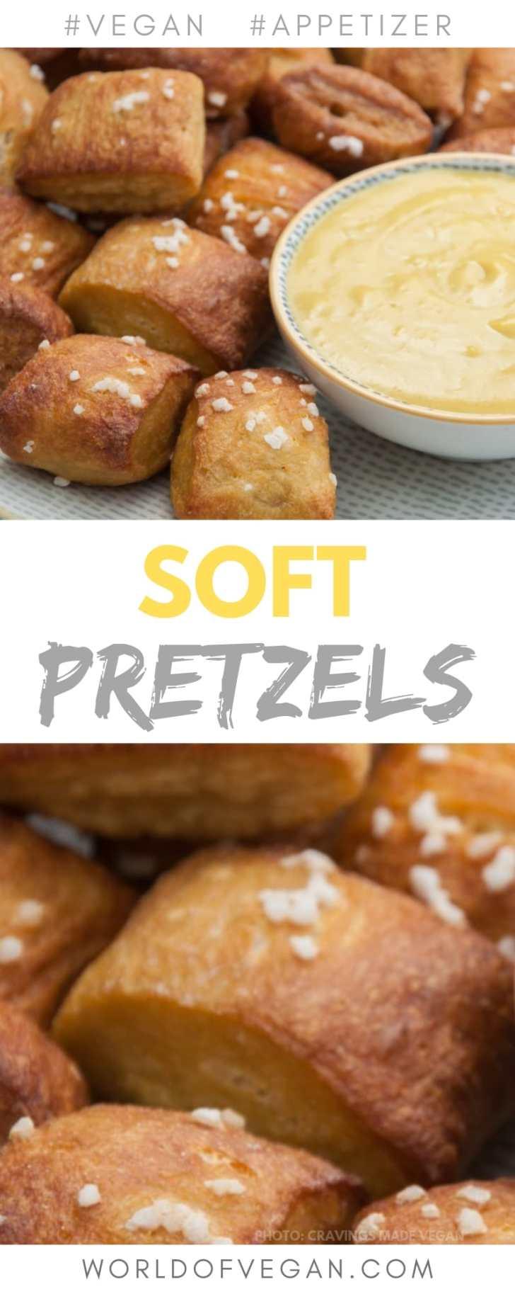 Vegan Soft Pretzels with Cheese Dip   Easy Appetizer Recipe   World of Vegan   #pretzels #cravings #snack #dip #cheese #worldofvegan