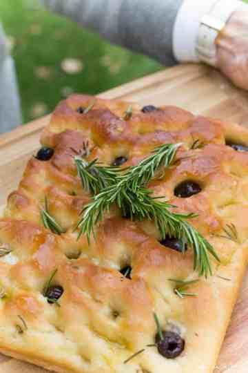 Olive Rosemary Focaccia Recipe World of Vegan -546