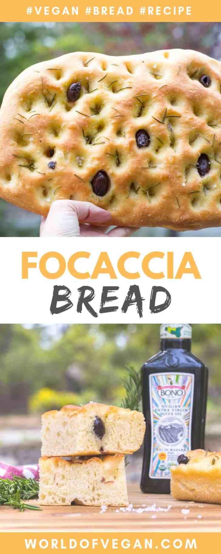 Easy Vegan Focaccia Bread Recipe | World of Vegan #vegan #focaccia #bread #diy #baking