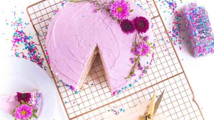 Super Easy Vegan Birthday Cake