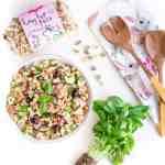 Easy Vegan Pasta Salad Perfect for Parties, Potlucks & Picnics | WorldofVegan.com #vegan #easter #bunny #pasta #picnic #potluck