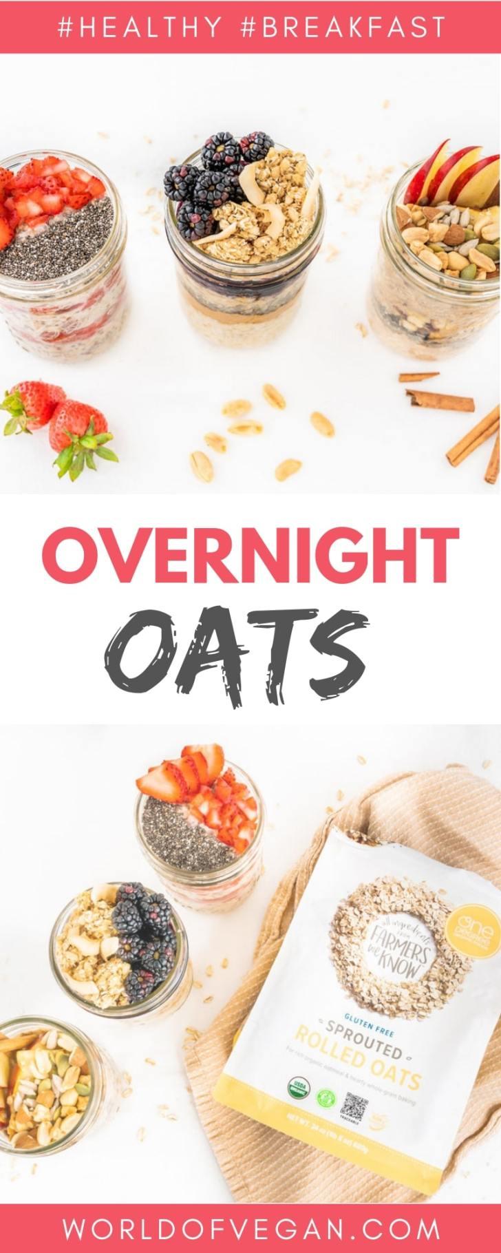Overnight Oats 3 Ways World of Vegan