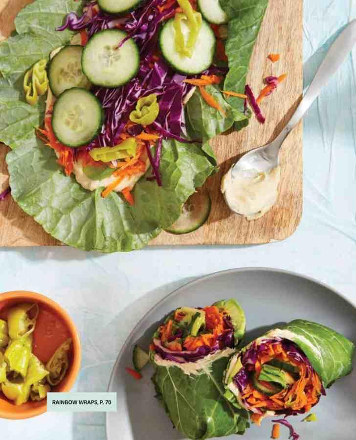 Rainbow Collard Wraps  Veggie Packed Recipe   World of Vegan   #vegan #wraps #collard #rainbow #raw #recipe #worldofvegan