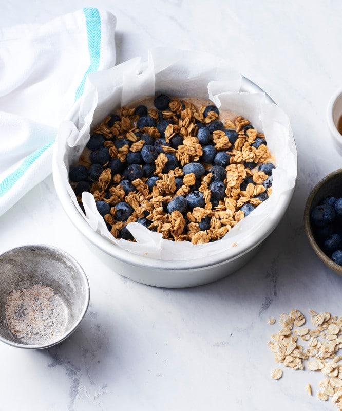 Vegan Air Fryer Granola Recipe | WorldofVegan.com | #granola #breakfast #vegan #easy #recipe #worldofvegan