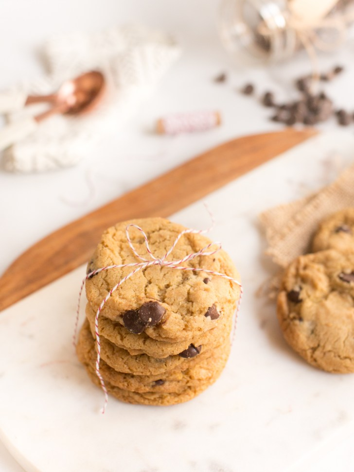 Perfect Vegan Chocolate Chip Cookies   WorldofVegan.com #vegan #holiday #cookies