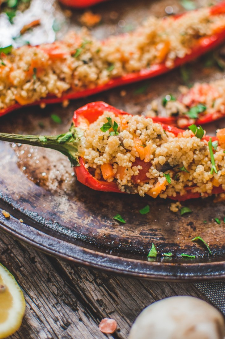 Couscous Stuffed Peppers Close up