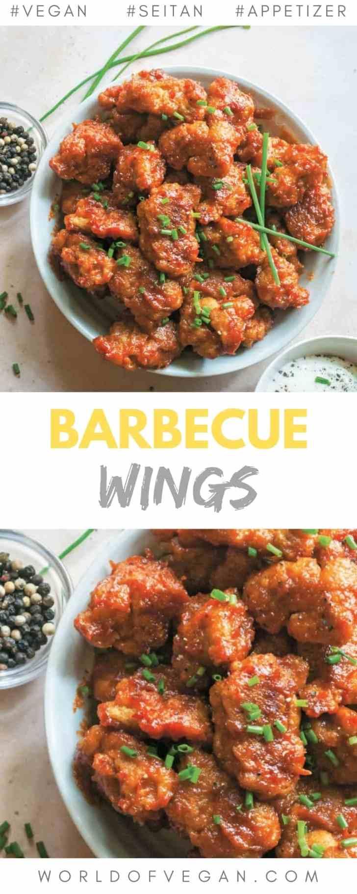 Vegan Barbecue Seitan Wings Recipe