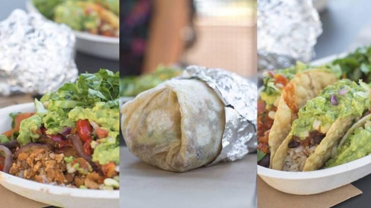 Vegan Meals at Chipotle You Can Order—Burrito Tacos and Salad Bowl