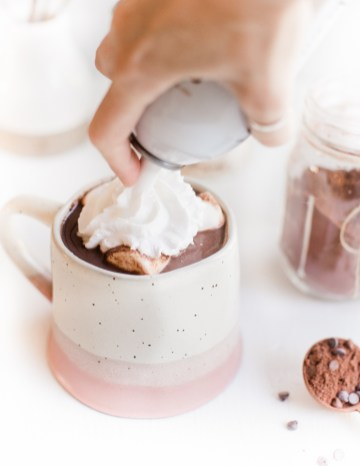 Best Homemade Vegan Hot Cocoa Recipe With Coconut Whipped Cream