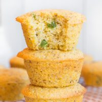 Vegan Jalapeño Cornbread Muffins