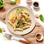 Vegan Hummus Pasta—Healthy Budget Friendly Recipe With Vegetables