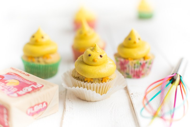 Vegan Easter Cupcakes Made With Flora Plant Butter