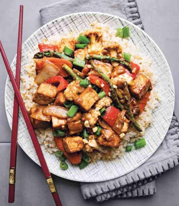 The Best Peanut Tofu Stir Fry Recipe