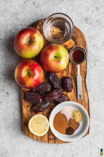 Pressure Cooker Apple Butter Ingredients