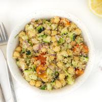 Fresh Chickpea Quinoa Salad