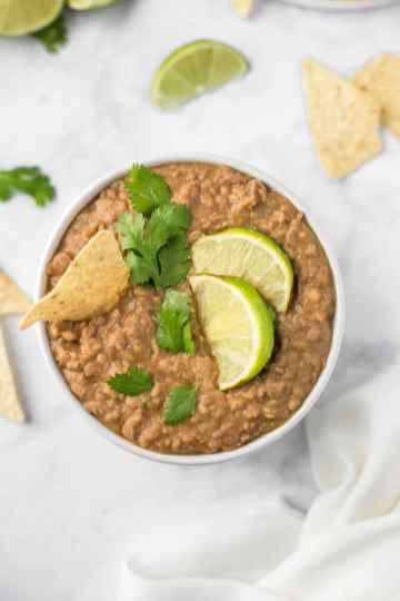 World of Vegan - Crockpot Refried Beans