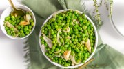 Sheet Pan Roasted Peas