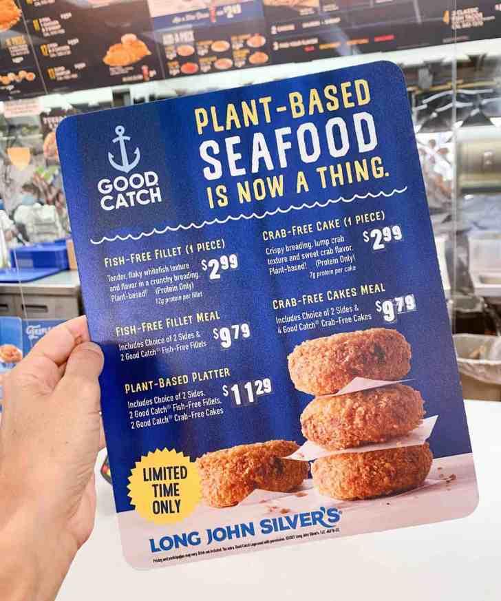 New Vegan Menu at Long John Silvers With Crab Cakes and Fish Fillets