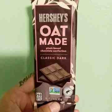 Oat Milk Hersheys Chocolate Bar Packaging Vegan