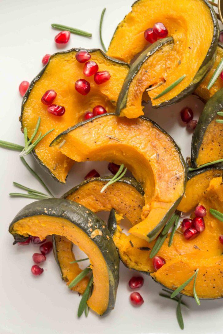 Air Fryer Kabocha Squash Vegan Thanksgiving Recipe