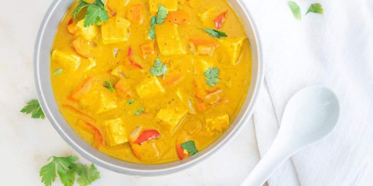 Vegan Pumpkin Curry with Tofu from Plant Based on a Budget