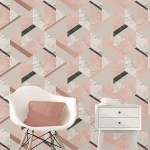 The Latest Wallpaper Trend Is Marble Effect Wallpaper Including Geometric And Metallic Designs