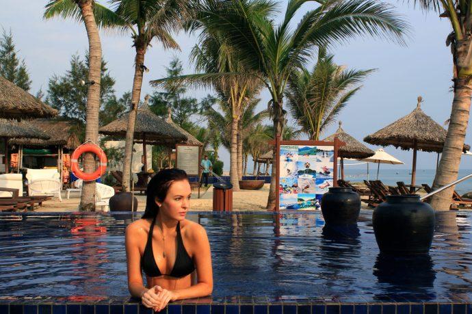 Poolside in Vietnam