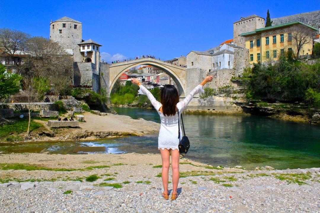 Brooke in Mostar Bosnia   WORLD OF WANDERLUST