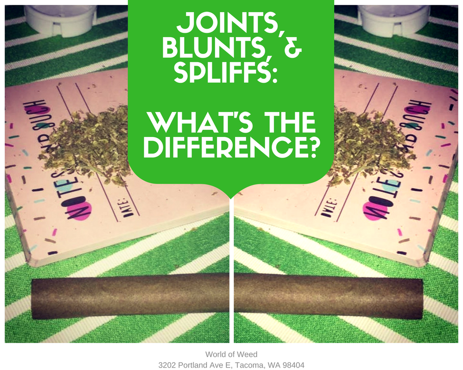 Different Types Joints Weed