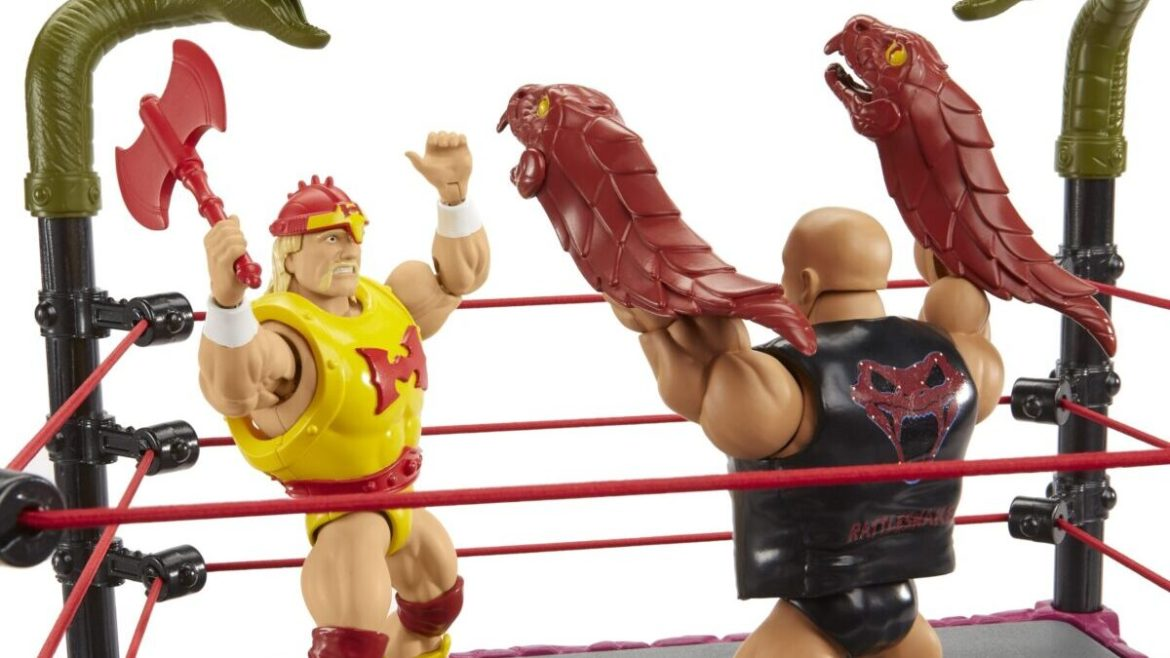 Action Figures: Snake Mountain Playset Masters of the WWE Universe (Tutte le foto)