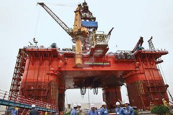 Fig. 2. The HYSY 981 deepwater rig gives China the physical capacity to drill in the deepest portions of the South China Sea basins.