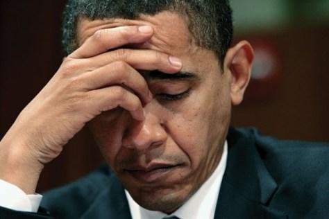 A Obama sad