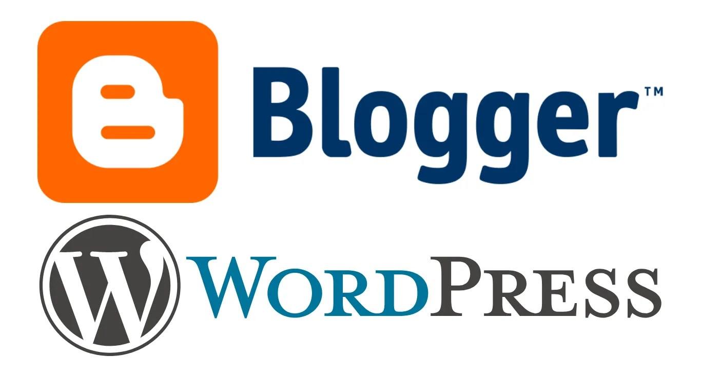 Blogger & WordPress Logos