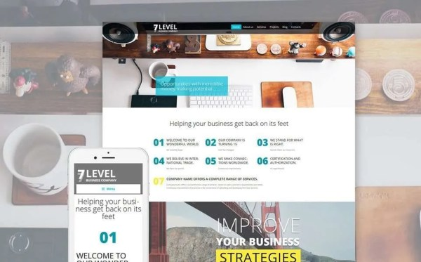 7 Level WordPress Theme